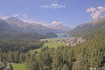 Vista dall'hotel Suvretta House St. Moritz