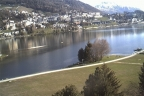 St. Moritz Dorf IV - Ausblick Hotel Schweizerhof Richtung St. Moritzersee