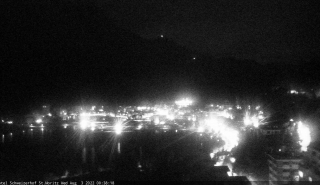 View from Hotel Schweizerhof to St. Moritz Bad