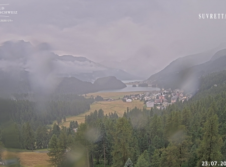 View from Suvretta House St. Moritz